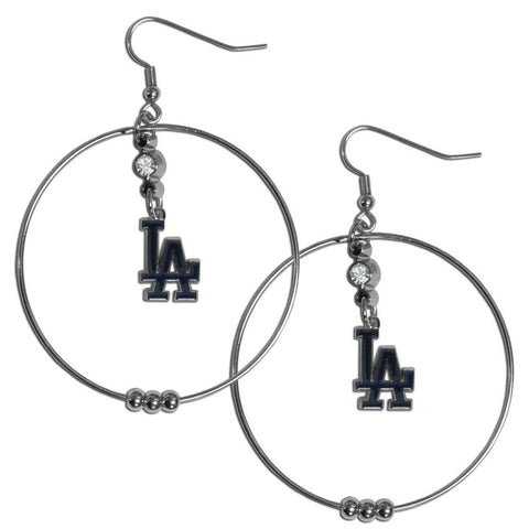 Los Angeles Dodgers 2 Inch Hoop Earrings