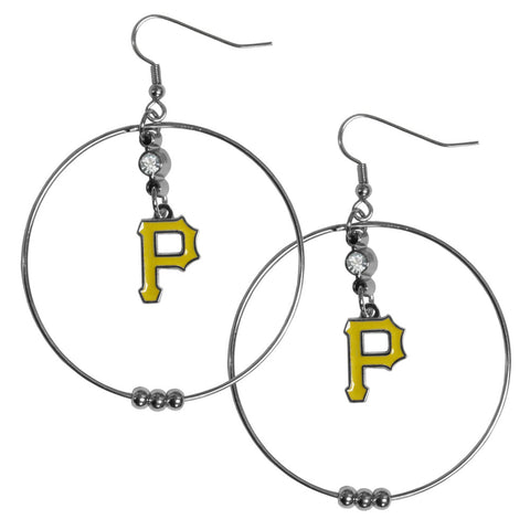 Pittsburgh Pirates 2 Inch Hoop Earrings