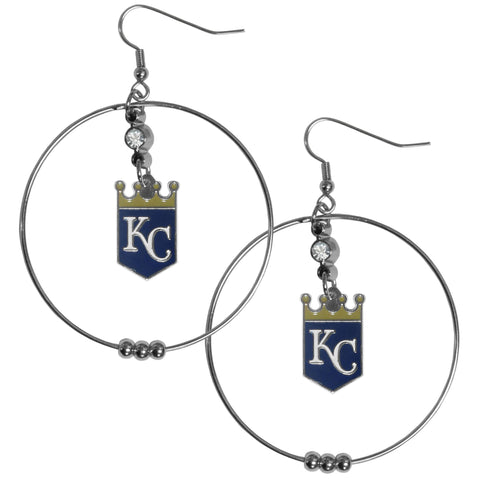 Kansas City Royals 2 Inch Hoop Earrings