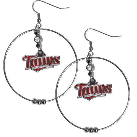 Minnesota Twins 2 Inch Hoop Earrings