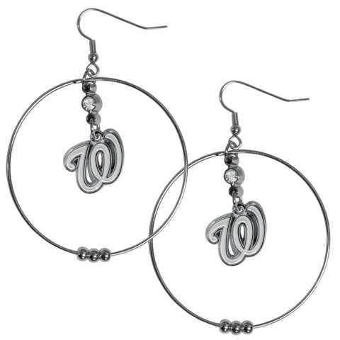 Washington Nationals 2 Inch Hoop Earrings