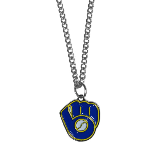 Milwaukee Brewers Chain Necklace with Small Charm