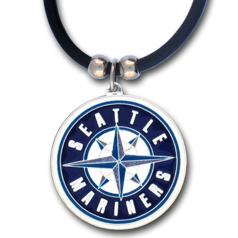 Seattle Mariners Rubber Cord Necklace