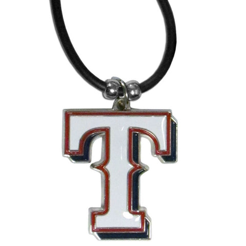 Texas Rangers Rubber Cord Necklace
