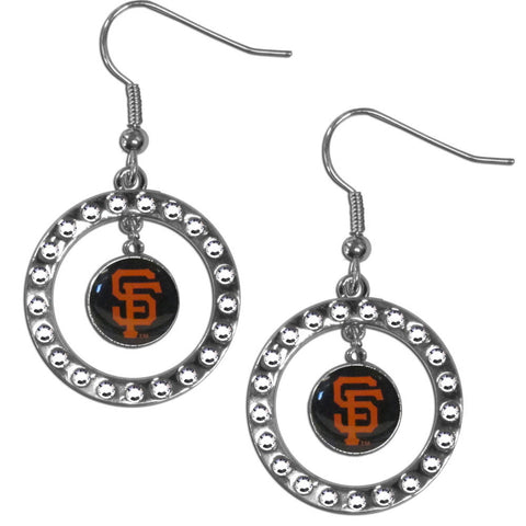 San Francisco Giants Rhinestone Hoop Earrings