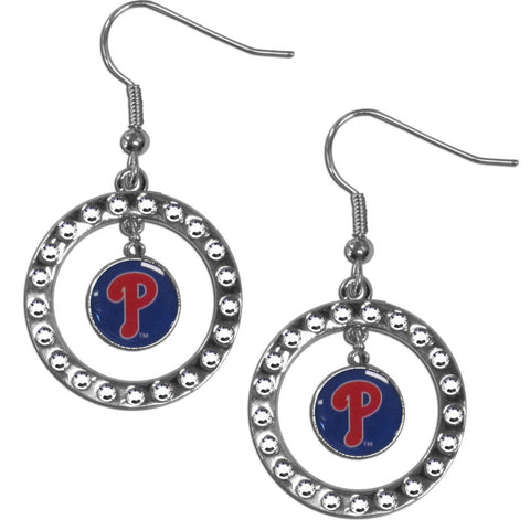 Philadelphia Phillies Rhinestone Hoop Earrings