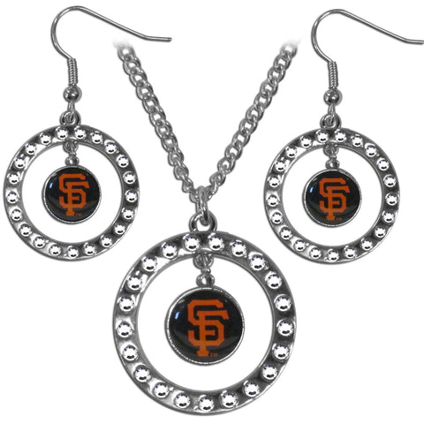 San Francisco Giants Rhinestone Hoop Jewelry Set