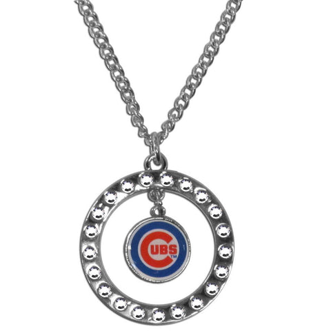 Chicago Cubs Rhinestone Hoop Necklace