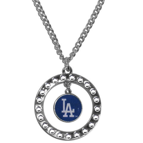Los Angeles Dodgers Rhinestone Hoop Necklace