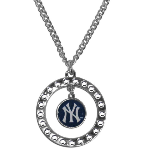 New York Yankees Rhinestone Hoop Necklace