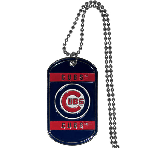 Chicago Cubs Tag Necklace