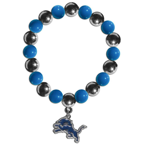Detroit Lions Chrome Bead Bracelet