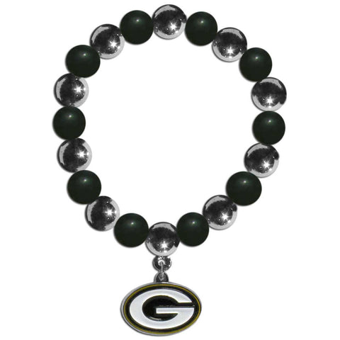 Green Bay Packers Chrome Bead Bracelet