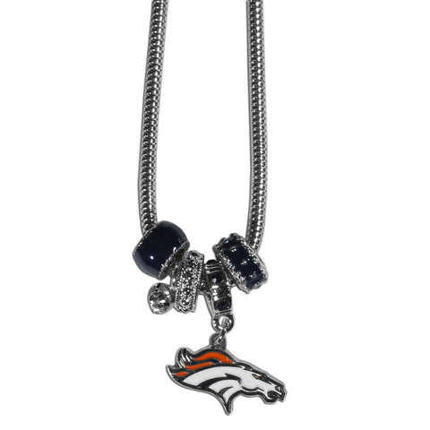 Denver Broncos Euro Bead Necklace