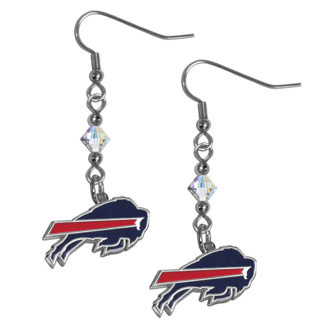Buffalo Bills Crystal Dangle Earrings
