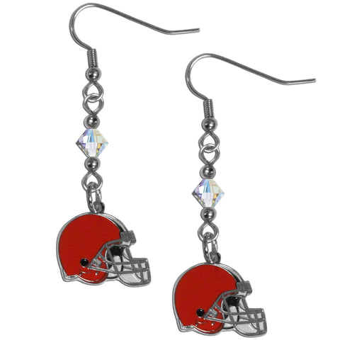 Cleveland Browns Crystal Dangle Earrings