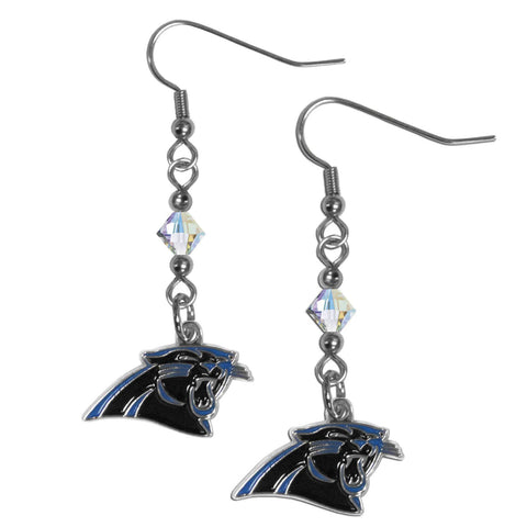 Carolina Panthers Crystal Dangle Earrings