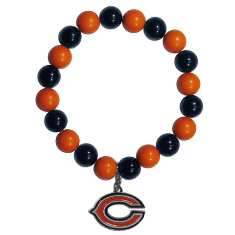 Chicago Bears Fan Bead Bracelet