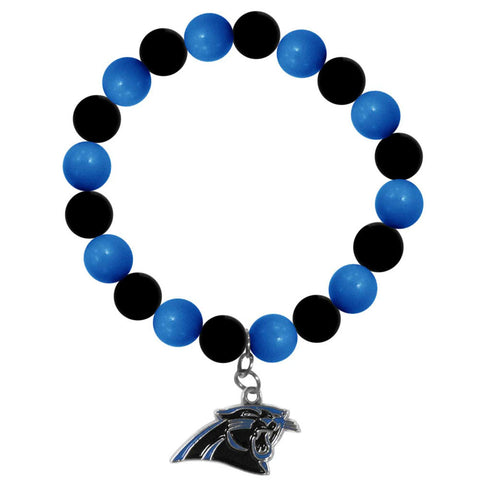 Carolina Panthers Fan Bead Bracelet