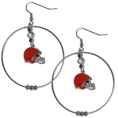 Cleveland Browns 2 Inch Hoop Earrings  In Stock