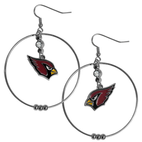 Arizona Cardinals 2 Inch Hoop Earrings