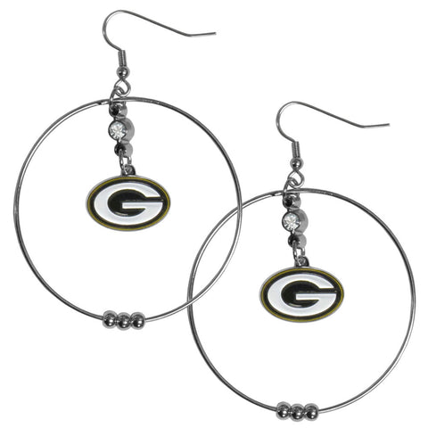 Green Bay Packers 2 Inch Hoop Earrings