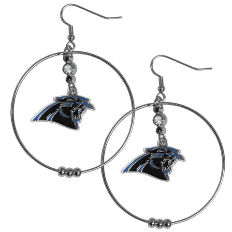 Carolina Panthers 2 Inch Hoop Earrings
