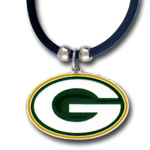 Green Bay Packers Rubber Cord Necklace