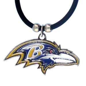 Baltimore Ravens Rubber Cord Necklace