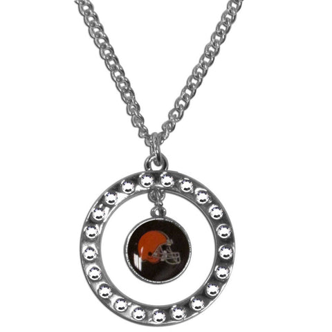 Cleveland Browns Rhinestone Hoop Necklace