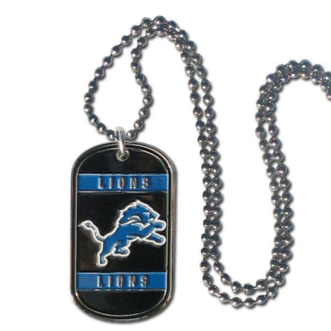Detroit Lions Tag Necklace