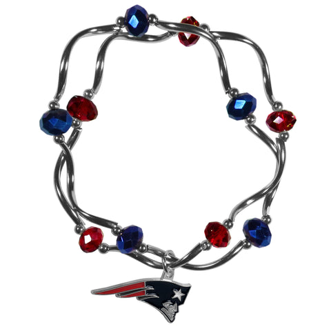 New England Patriots Crystal Bead Bracelet