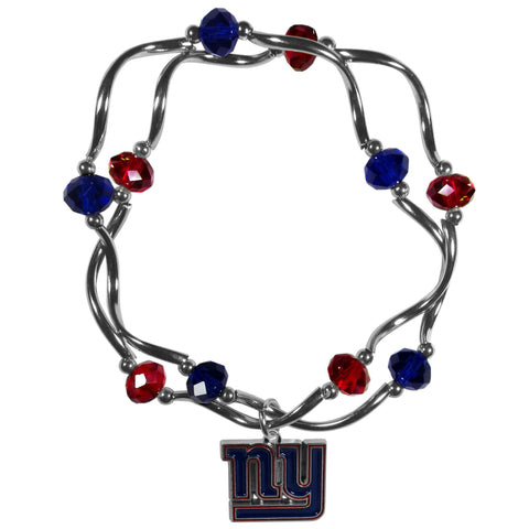 New York Giants Crystal Bead Bracelet