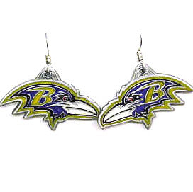 NFL Earrings - Baltimore Ravens