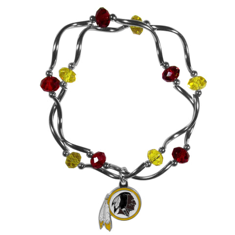 Washington Redskins Crystal Bead Bracelet