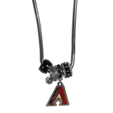 Arizona Diamondbacks Euro Bead Necklace