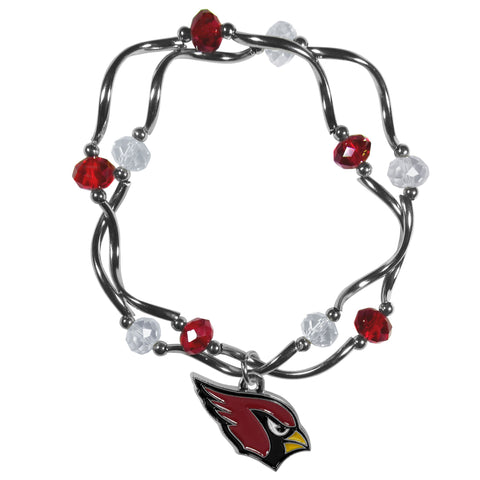 Arizona Cardinals Crystal Bead Bracelet