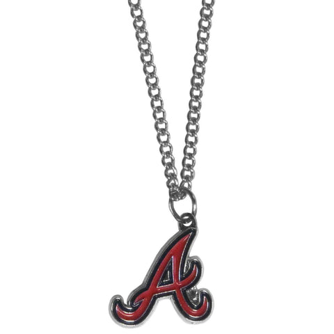 Atlanta Braves Chain Necklace With Small Charm