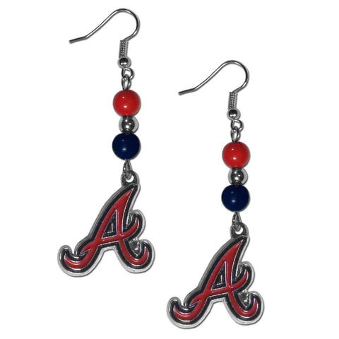 Atlanta Braves Fan Bead Dangle Earrings