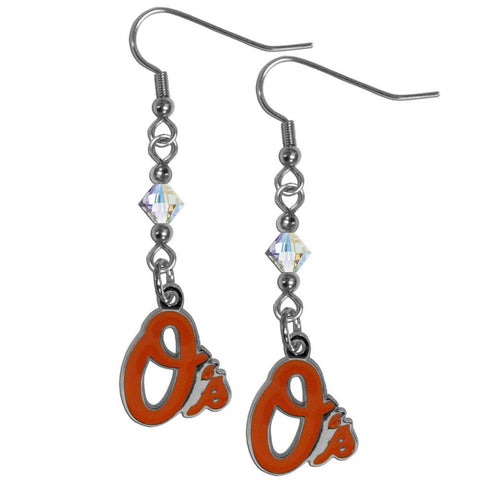 Baltimore Orioles Crystal Dangle Earrings