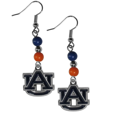 Bead Dangle Earrings - Auburn Tigers Fan Bead Dangle Earrings