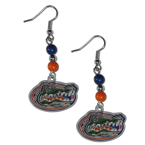 Bead Dangle Earrings - Florida Gators Fan Bead Dangle Earrings