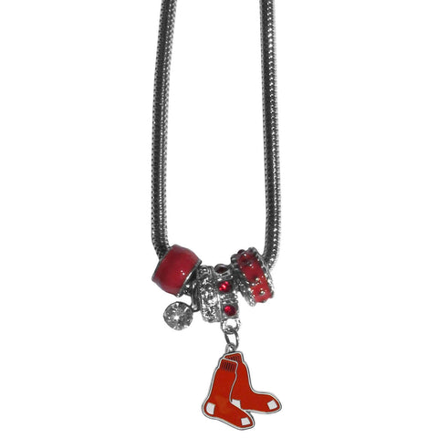 Boston Red Sox Euro Bead Necklace