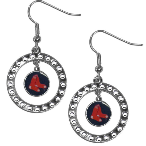 Boston Red Sox Rhinestone Hoop Earrings