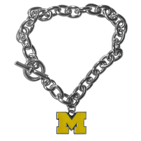 Charm Chain Bracelet - Michigan Wolverines Charm Chain Bracelet