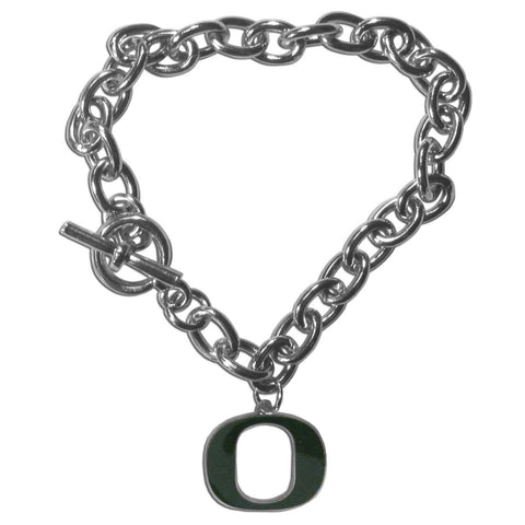 Charm Chain Bracelet - Oregon Ducks Charm Chain Bracelet