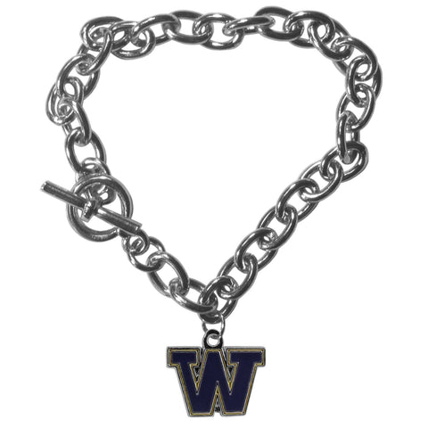 Charm Chain Bracelet - Washington Huskies Charm Chain Bracelet