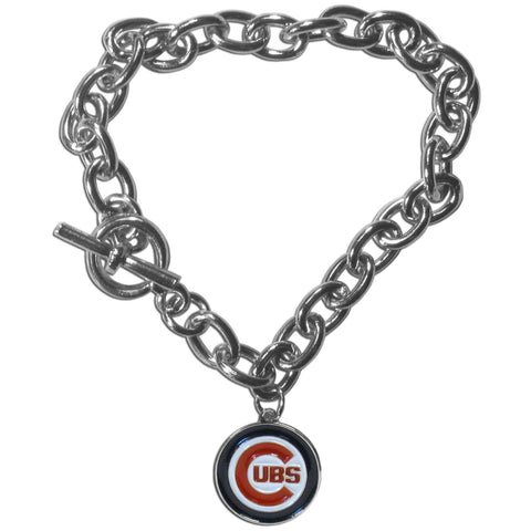 Chicago Cubs Charm Chain Bracelet