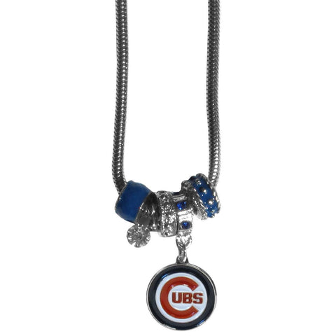 Chicago Cubs Euro Bead Necklace