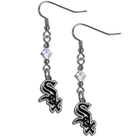 Chicago White Sox Crystal Dangle Earrings
